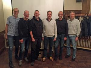 Der neue Vorstand (v.l. Markus Lindemann, Michael Sandner, Thomas Hagenberger, Wolfgang Helbig, Andreas Tschöpe und der ausgeschiedene Vorsitzende Frank Pühse | Foto: B. Franzkowiak